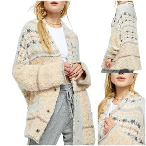 Free People NWT Fair Weather Cardigan Natural L